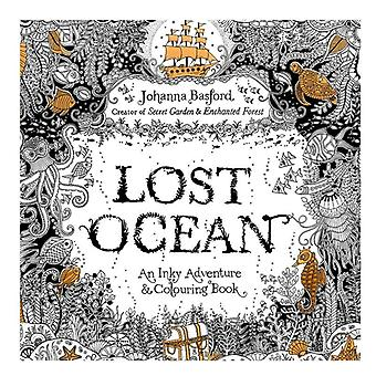 24pages 7.3 Inch English Edition Coloring Book Lost Ocean Adult Diy School