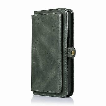 Multifunctional leather wallet case for iPhone 11 6.1 - Green dark
