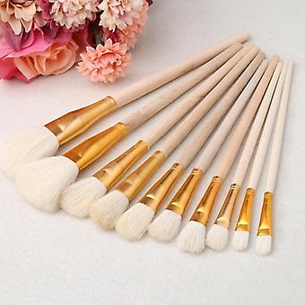 Brushes Set For Art Painting, Oil, Acrylic, Watercolor Drawing Craft, Diy Kid