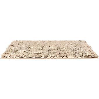 fotmatte 120 x 80 cm gummi/mikrofiber beige