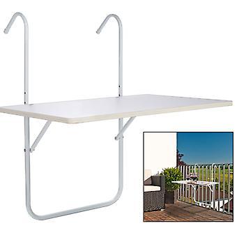 HI Balcony Folding Table White 60 × 40 × 1.2 cm
