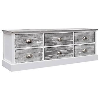 vidaXL Hallway bench Grey 115x30x40 cm Wood