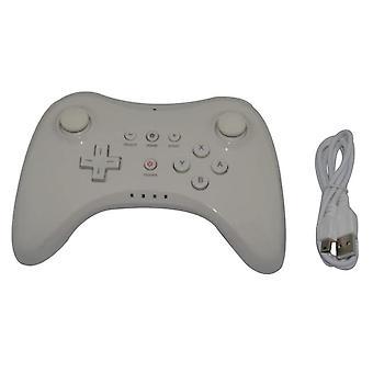 Draadloze Pro Gamepad voor Wii U Controller Game Pad Joypad Controller met USB-kabel| Gamepads(wit)