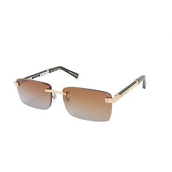 ZILLI Solglasögon Titan acetat lädergradient Frankrike Handgjord ZI 65038 C01