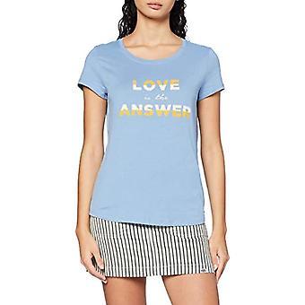 TOM TAILOR Denim Basic T-Shirt, 10918-Summer Blue, L Woman