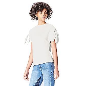Amazon brand - find. Women's Crew neck T-shirt, White, 42, Label: S(1)