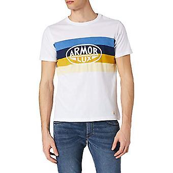 Armor Lux T-Shirt serigraphie, Blanc/Raye Heritage, M Uomo