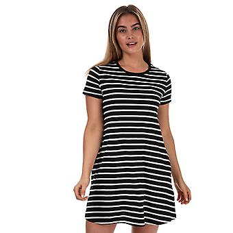 Women's Only May Life Striped Jersey Pocket Dress in Black