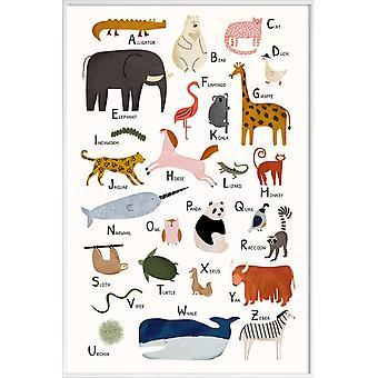 JUNIQE Print - Animal Friends II - Kinderdagverblijf & Kunst voor kinderen Poster in kleurrijk