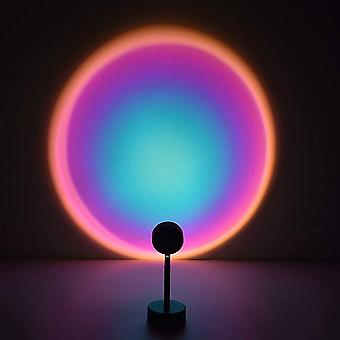 Sunset projection lamp night light projector 90 degree led projection lamp night light for kids adults lights for room decor (sun-red portable) pl-140