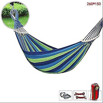 1.5M blue garden hammock outdoor swing thick canvas anti-rollover single double adult hanging chair dt4897