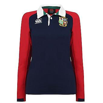 Canterbury Womens BIL Long Sleeve Collared Neck Shirt Embroidered Sports Top