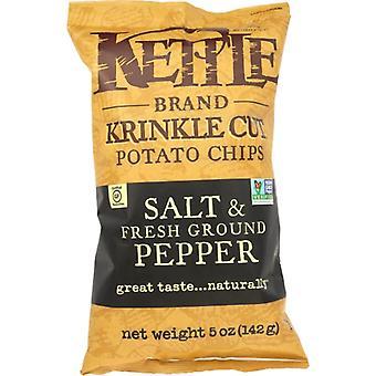 Kettle Foods Chip Pto Krnkl Salt & Pppr, Case of 15 X 5 Oz