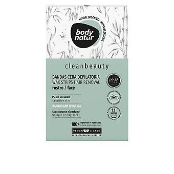 Body Natur Clean Beauty Bandas Cera Rostro Pieles Sensibles för kvinnor