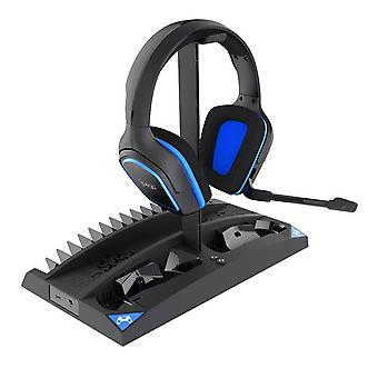 Ipega game vertical stand 6 in 1 multifunctional cooling fan headphone holder controller charging base for ps4/ps4 slim/ps4 pro