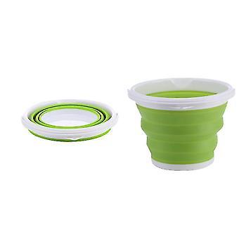 Outdoor Folding Fishing Portable Car Storage And Art Pen Washing Telescopic Barrel(Green)
