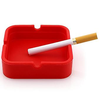 Silicone Square Ashtray Resistant To Burning And Melting Soft Smoke Cup Holder Home Accessories