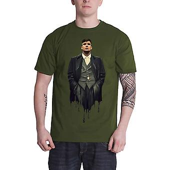 Peaky Blinders T Shirt Dripping Tommy Logo ny officiell mens grön
