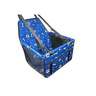 כלוב נושאת מושבים לרכב מחמד לכלבים חתולים או חיית מחמד קטנה אחרת (כחול)