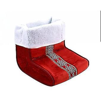 Plug-in Electric Heating Pad Foot Warmer Office Bedroom Heating Pad Foot Warmer(Red)