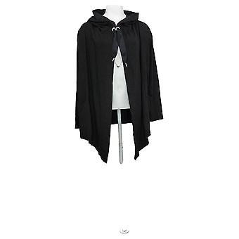 zuda Women's Sweater Z-Knit French Terry Long Sleeve Cardigan Black A371836