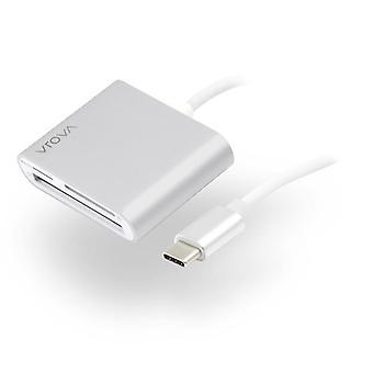 Alogic Usb C Multi Card Reader Micro Sd ja Kompakti Flash Prime Series