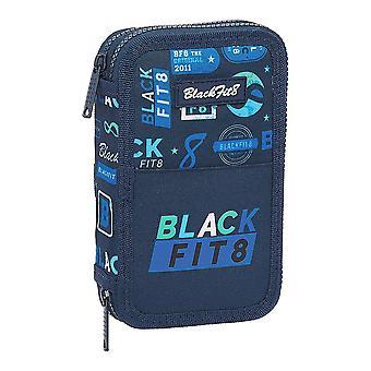 Estuche triple lápiz BlackFit8 Retro Azul Marino (28 piezas)