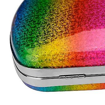 Messenger bags fashion rainbow box evening bag women designer elegant party wedding clutch sm117700