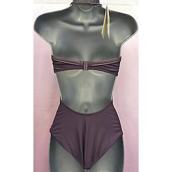 Speedo Förtrollande Bourgogne baddräkt fäster på bakre bikinistil