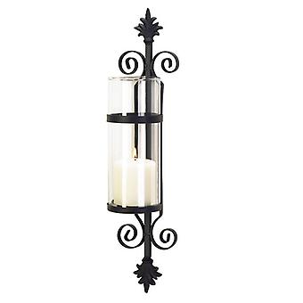 Gallery of Light Matte Black Wall Candle Column, Pack of 1