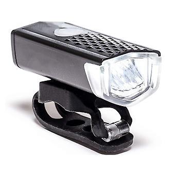 300 Lumens LED USB مرحبا جودة سبيكة القابلة لإعادة الشحن دراجة أمام Ligh(أسود)