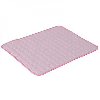 Household Pet Cooling Cushion Is Easy To Clean And Dry, Suitable For Cats And Dogs (pink)