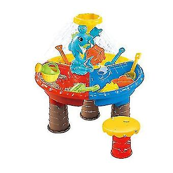 Juego de juguetes de mesa de arena de playa
