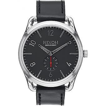 Nixon Black Genuine Leather A465-008 Reloj de Hombre
