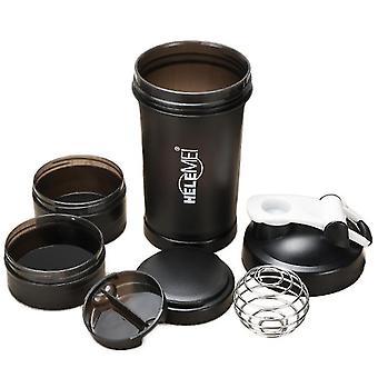 Scrub Shaking Cup Protein Pulver Milchshake Cup Sport Fitness Wasserbecher mit Waage mit Pillenbox