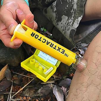 Veneno de emergencia al aire libre y picaduras herramienta extractora de primeros auxilios al vacío