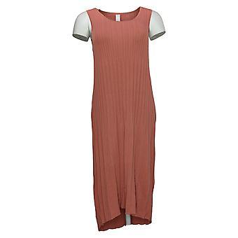 MarlaWynne Kleid Ärmellos plissierter Strick Pink 655546