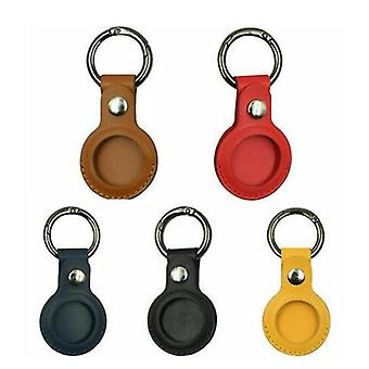 For Apple Airtag Leather Case Cover For Keychain Sleeve Shell Skin Set Of 5 Colors