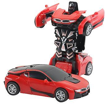 ツーインワントランスフォームロボットキット12-13cmワンステップ変身おもちゃ車モデル子供のおもちゃの誕生日ギフトe