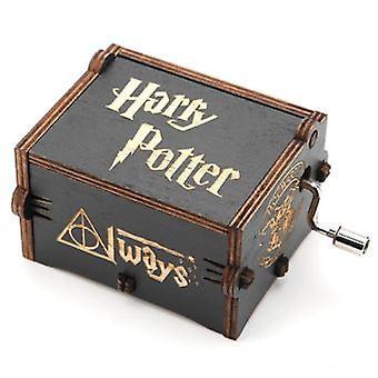 Harry Potter Noir Mécanique En Bois Manivelle Boîte à Musique