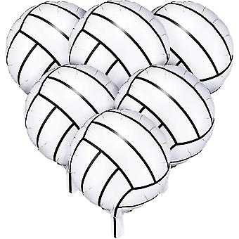 6 Pieces 18 Inches Volleyball Balloons Foil Mylar Volleyball Balloons Aluminum Foil Balloons For Birthday Party Sports Themed Party Decor