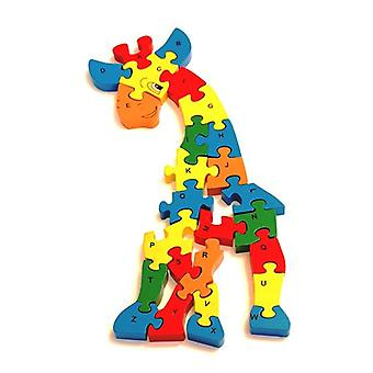 Traditional Wood 'n' Fun A - Z Chunky Giraffe Puzzle by Ackerman