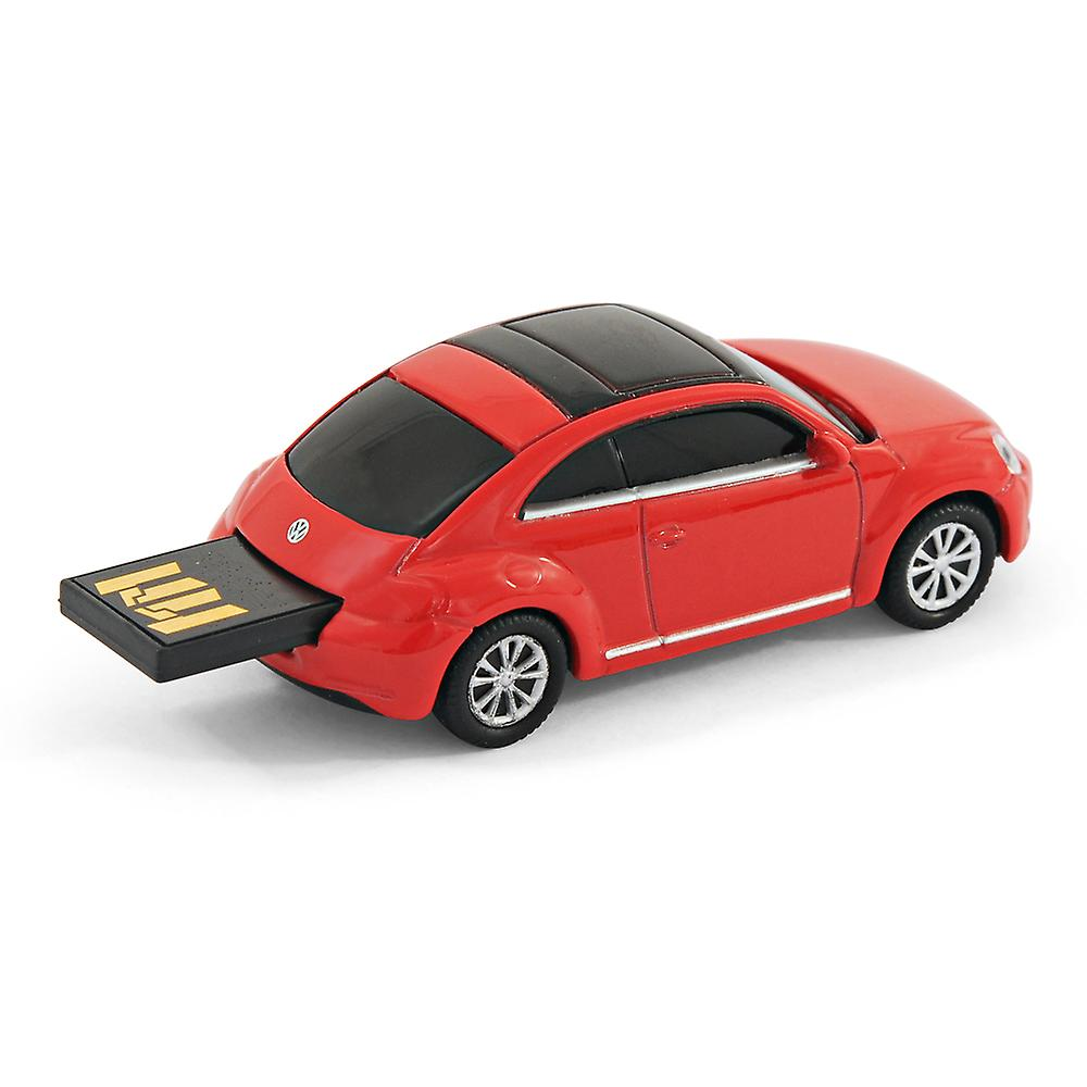 VW Beetle 'New Shape' Car Computer USB Memory Stick 8Gb - Red