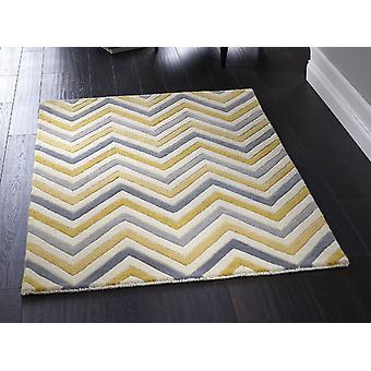 Cabone Yellow Grey  Rectangle Rugs Funky Rugs