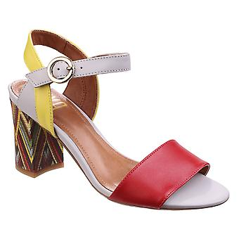 Riva Womens Baxin Multi Leather Ladies Sandal Red