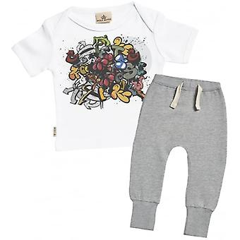 T-Shirt bébé gâté pourri Graffiti & Joggers tenue ensemble