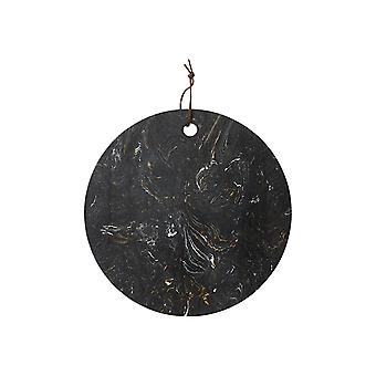Ladelle Metta Round Stone Serving Board, Black