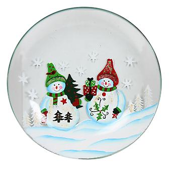 Aroma Snowman Candle Plate