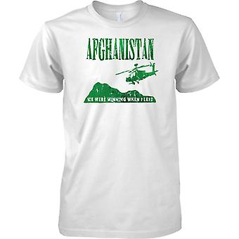 Afghanistan - We Were Winning When I Left - British Army - Royal Marines - Mens T Shirt