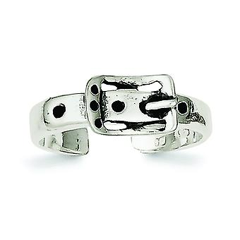 925 Sterling Argento Solido Finitura Buckle Toe Ring Regali Gioielli per le Donne - 2.0 Grams